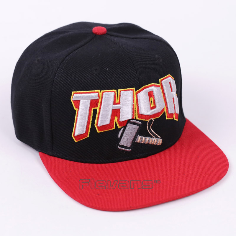 2edbd994721bf The Avengers THOR Hammer Embroidery Baseball Cap Fashion Women Women Hip  Hop Snapback Hat Cosplay Caps-in Baseball Caps from Apparel Accessories on  ...