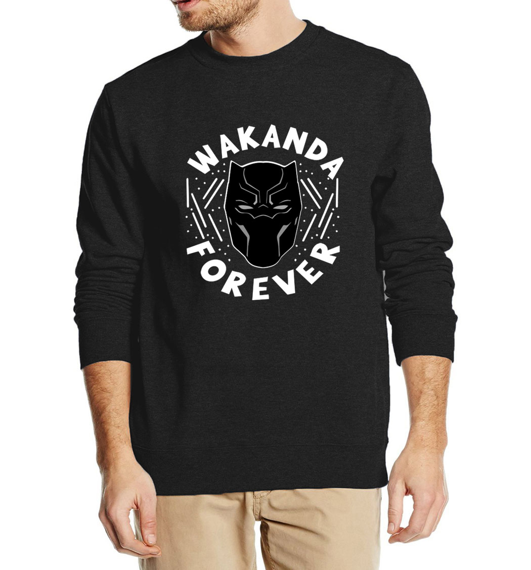 Black Panther Cool Sweatshirts For Men 2019 Autumn Winter Men's Casual Warm Fleece Hoodies Movie Hooded Fashion Brand-Clothing