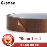 70mm 10M 0 13mm Adhesive PTFE Teflon Tape High Temperature Resist Up To 300C Heat