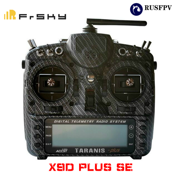 FRSKY 2.4G 16CH Taranis X9D Plus SE Transmitter SPECIAL EDITION M9 Sensor Water Transfer Case Mode 2 CARBON FIBER/BLAZING SKULL frsky 2 4g 16ch taranis x9d plus se transmitter special edition w m9 sensor water transfer case with battery and charger rc toy