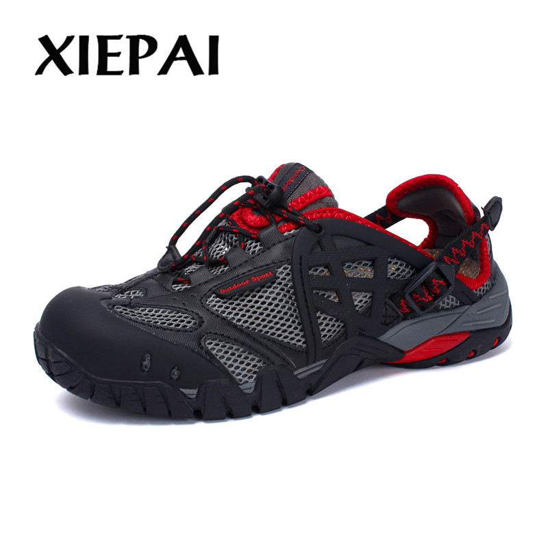 XIEPAI Brand Men Summer Mesh Sandals Big Size 35-47 Unisex Style Male Female Breathable Casual Shoes Beach Water Sandals
