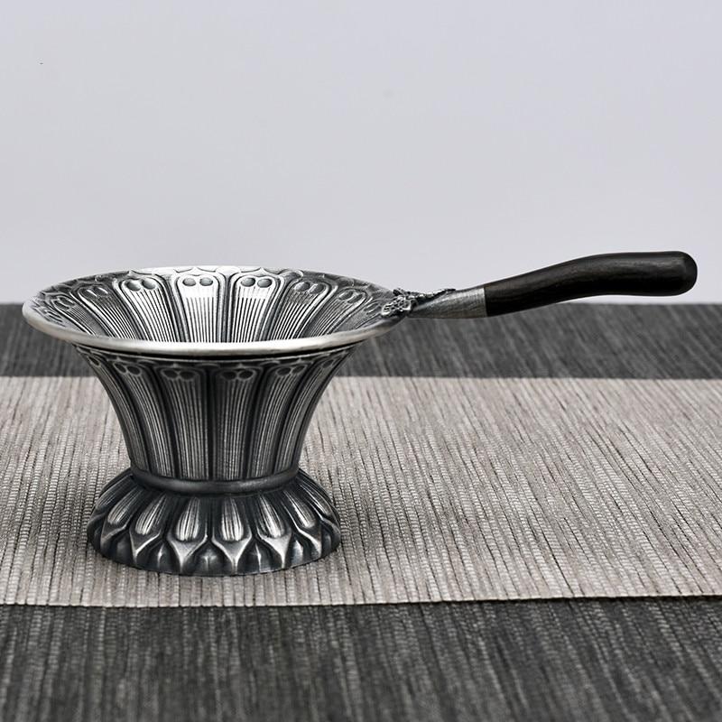 Prata 925 Prata pura Artesanal Prata Pé 999 Composto de Vazamento de Chá Pires Kung fu jogo de chá jogo de chá