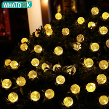5M 10M Garland Ball String Light Battery Powered Christmas Light for Holiday Wedding Indoor Outdoor Luces LED Fairy Party Decor