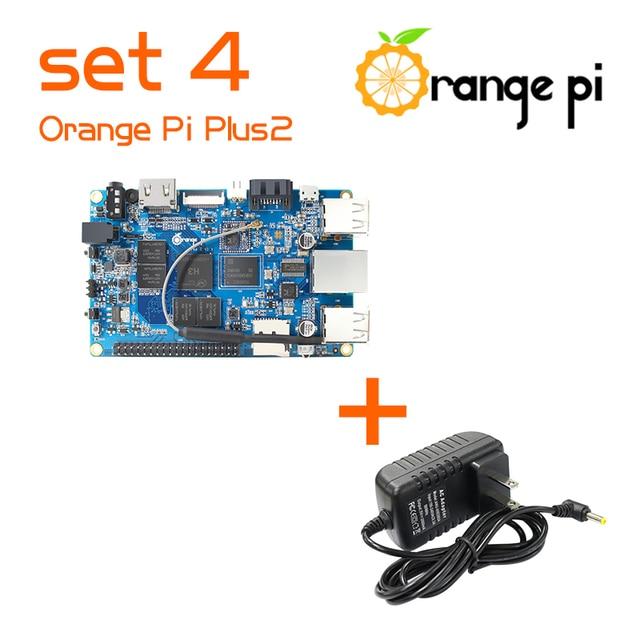 Naranja Pi Plus 2 SET4: Naranja Pi Plus 2 + fuente de Alimentación Soporte Ubuntu, Debian