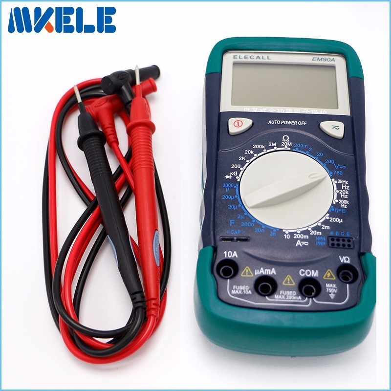 Free shipping EM90A DMM DC AC Voltage Auto Range Hfe Full Protection Digital Multimeter mastech diagnostic-tool multimetro  цены