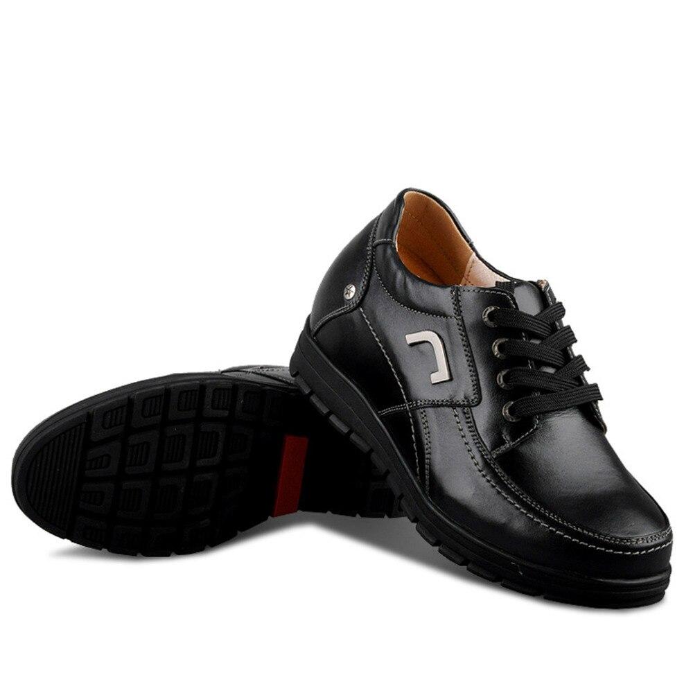 Invisivelmente Bezerro Taller Palmilhas Oculto Crescente Elevador Preto Homem Confortável Salto 8 Altura X577 Crescer Em 2 Cm Sapatos 1STBBw