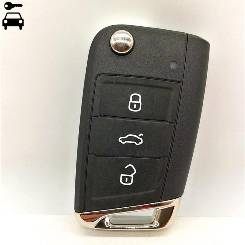 Car Flip Folding Remote Key 434Mhz with ID48 Chip for Volkswagen VW Golf7 Golf 7 MK7 MQB Remote Key Not Intelligent Smart Key