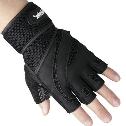 Men Body Building Brand Fitness Gloves Equipment Weight lifting Luvas Non-slip breathable Long Wrist Wrap Black Brown Mittens Islamabad