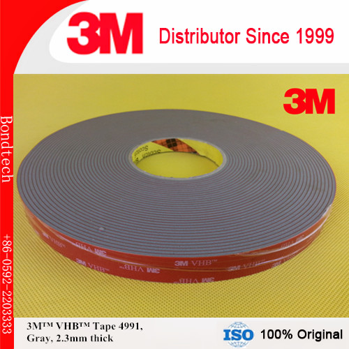 3M VHB tape 4991, 2.3mm, 25mmX16.5M pack of 1 hettich 4991 06