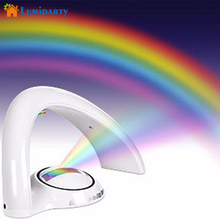 Lumiparty LED Rainbow Lamp LED Rainbow Projector Room Night Light Wall Ceiling Lamp Night Light Atmosphere AAA lamps