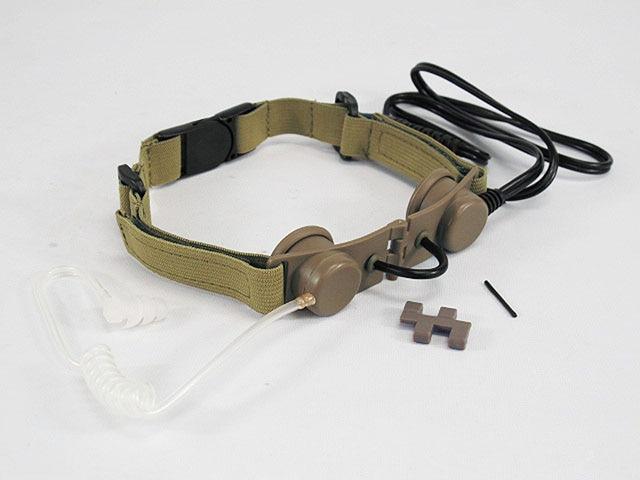 Z TACTICAL headset headphone TACTICAL THROAT MIC HEADSET TAN ACU BK