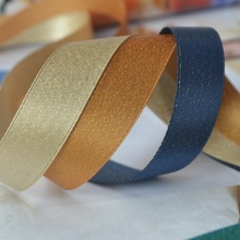 (50yards/5colors/lot) satin golden yarn Ribbon mixed for wedding Christmas decoration,hand made craft,free shipping,1-1/2(38mm)