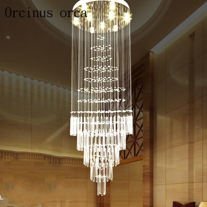 K9 led Crystal Chandelier Light Fixture Modern Lamp for Living Room Bedroom Hotel Hallway Indoor Decoration Stair Ceiling Lamp fallada н alone in berlin film tie in