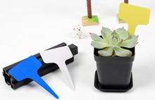 5pcs Plastic Plant Label Flower Tags Markers Nursery Garden Labels Stick Gardening Card