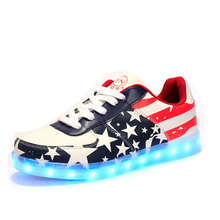 2017 New Fashion Led Luminous Shoes Casual Shose Lights Up USB Charging Chaussure Lumineuse Zapatos