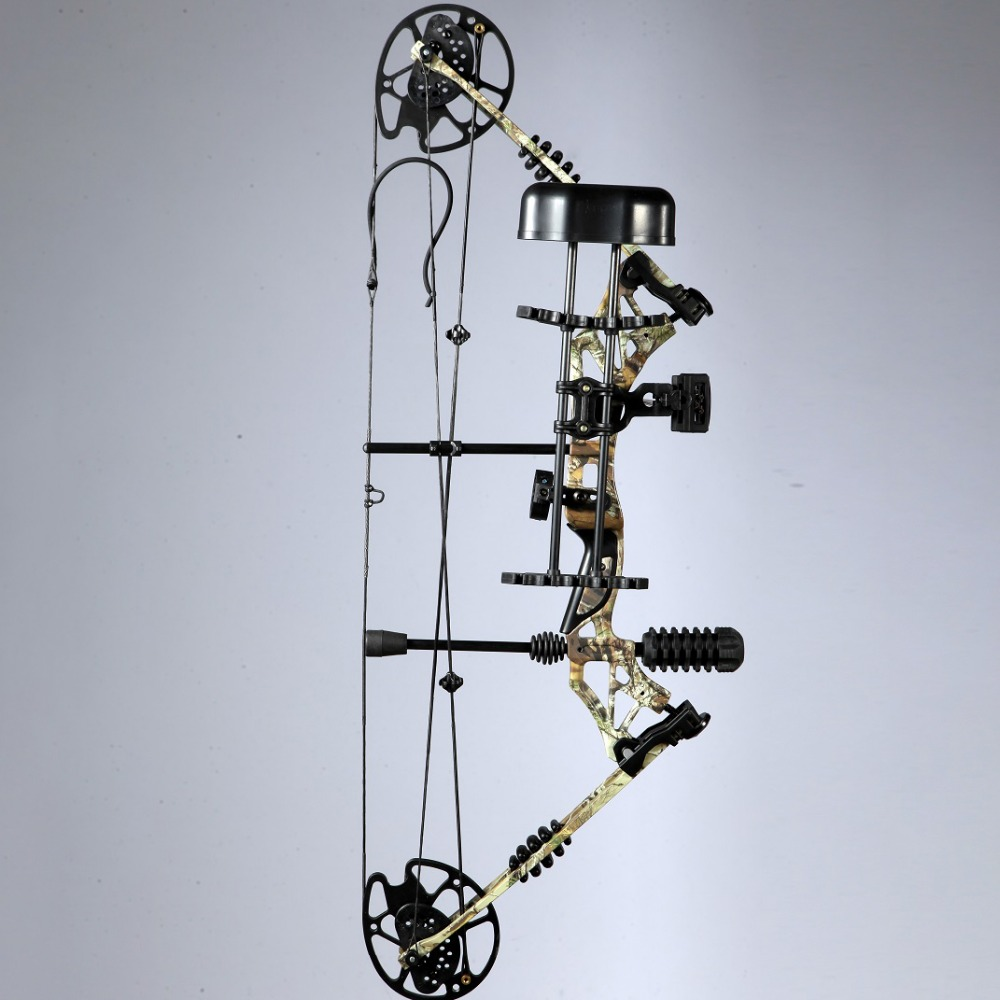 hunting compound archery set with quiver brush arrow rest pins sight 6 monthes garentee arma na mao