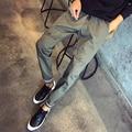 М-4XL 5XL Осень Новый Стиль Мода 100% Хлопок Брюки Мужчины Pantalones Hombre Хип-Хоп Брюки P122