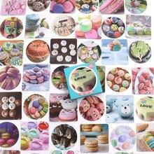 46pcs/box kawaii Macaron Mini Paper Decoration DIY Scrapbook Notebook Album Sticker Stationery Kawaii Girl