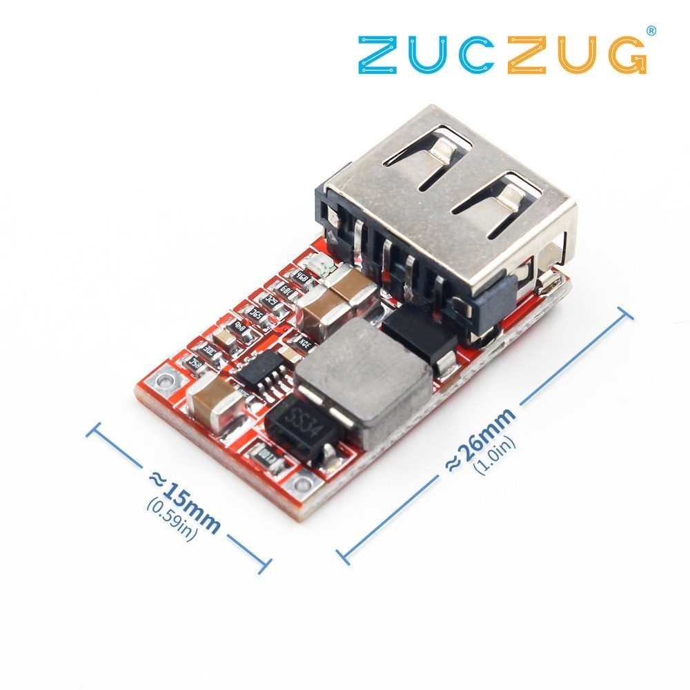 Online Shop Dc 6 24v 12v To 5v Usb Output Charger Step Down Lm2576 In The Battery Charging Circuit Application Power Module