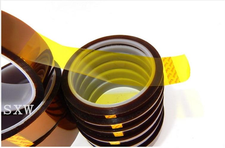Frete gratis 5mm 6mm 8mm 10mm 12mm x 33 M Brown Resistente Ao Calor de Alta Temperatura Polyimide Fita Adesiva Клейкая лента