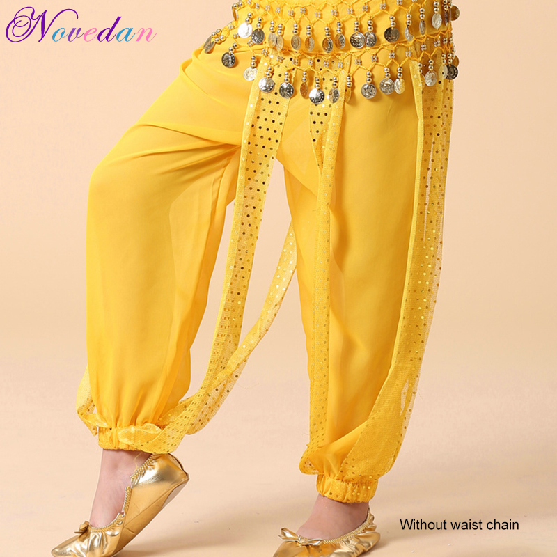 Kids Girls Child Belly Dance + Harem Pants Sequins India Belly Dance Clothes 4Colors
