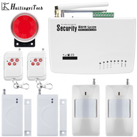 Wireless GSM Alarm System Dual Antenna GSM Home Alarm Systems With PIR Detector Russian English Voice