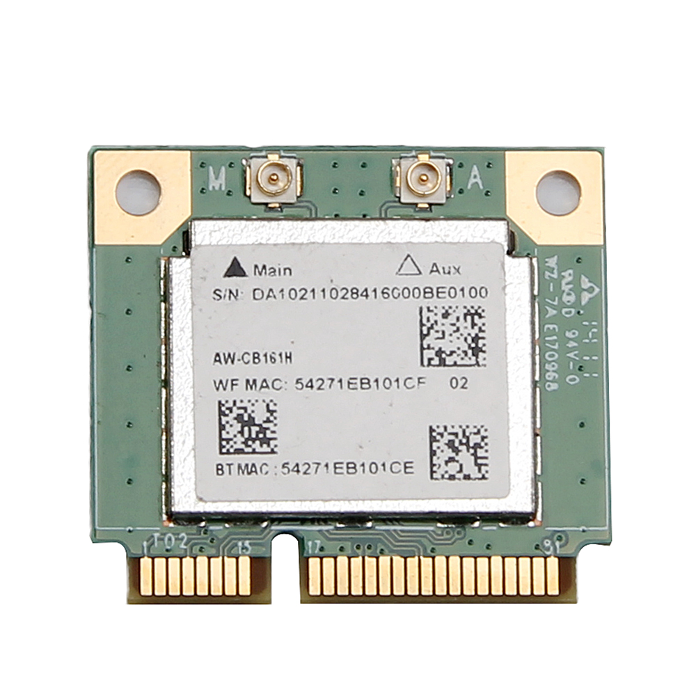 Wireless-AC 433Mbps Realtek RTL8821AE WiFi Bluetooth 4.0 Mini PCi-E Wlan Card Azurewave AW-CB161N Adapter 802.11ac 2.4G/5G