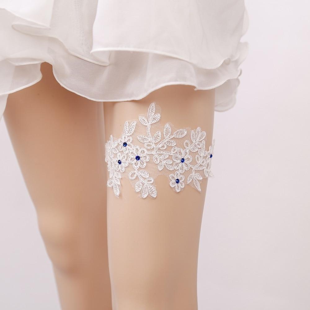 Where To Buy A Garter For Wedding: Aliexpress.com : Buy Wedding Garter Blue Rhinestone