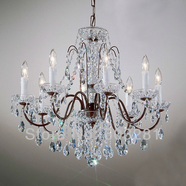 Classic Traditional Chandelier ATN2353 8 Light, Pellucid Crystal, Oil  Rubbed Bronze + Free Shipping - Antique Bronze Crystal Chandelier Antique Furniture