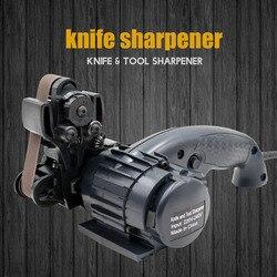 LIHUACHEN سكين مبراة الكهربائية المهنية المطبخ شحذ السكاكين طاحونة حجرية المشحذ التنغستن مبراة أداة
