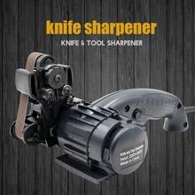 LIHUACHEN точилка для ножей электрическая Профессиональная кухонная заточка шлифовального станка точилка для ножей вольфрамовое точило