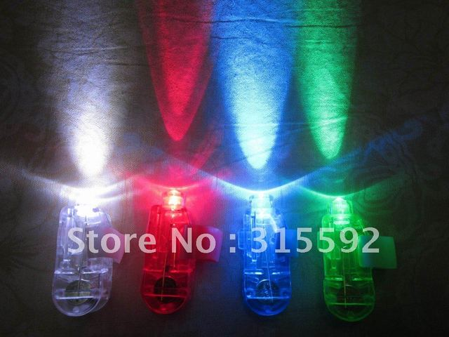 Free Shipping 50pcs/lot (12.5sets)4.5*1.5*1.5cmlaser finger beams flashing finger lights led finger lamp for Christmas