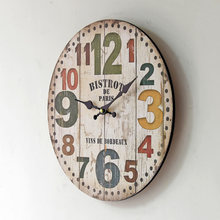 American Style Wooden Wall Clock