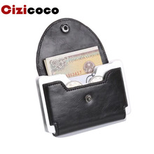 Brand PU Leather Credit card holder Anti-theft Business Card Holder Men Women mini Wallet id holders fashion