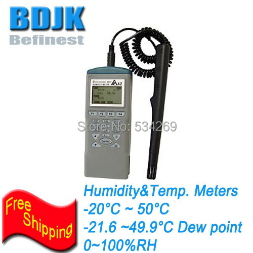 Free Shipping Digital Hygrometer Temperature and Humidity Meters with Data Memory
