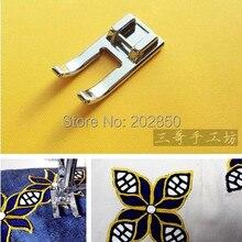 Внутренние детали швейной машины, Лоскутная& прижимная лапка вышивки,# 718-L, металлическая лапка с открытым носком, для Brother, Janome, Singer, Feiyue