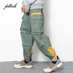 Новый западный Стиль оригинальный Дизайн мульти-карман свободные шаровары Для мужчин Осень Хип-хоп Повседневное модные эластичные