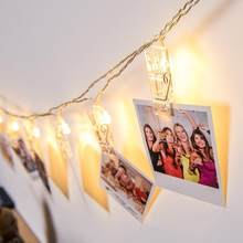 Binval Battery Powered Photo Clips LED Holiday Lighting Flash Indoor Christmas Party Wedding Home Decoration Album Fairy Lights(China)