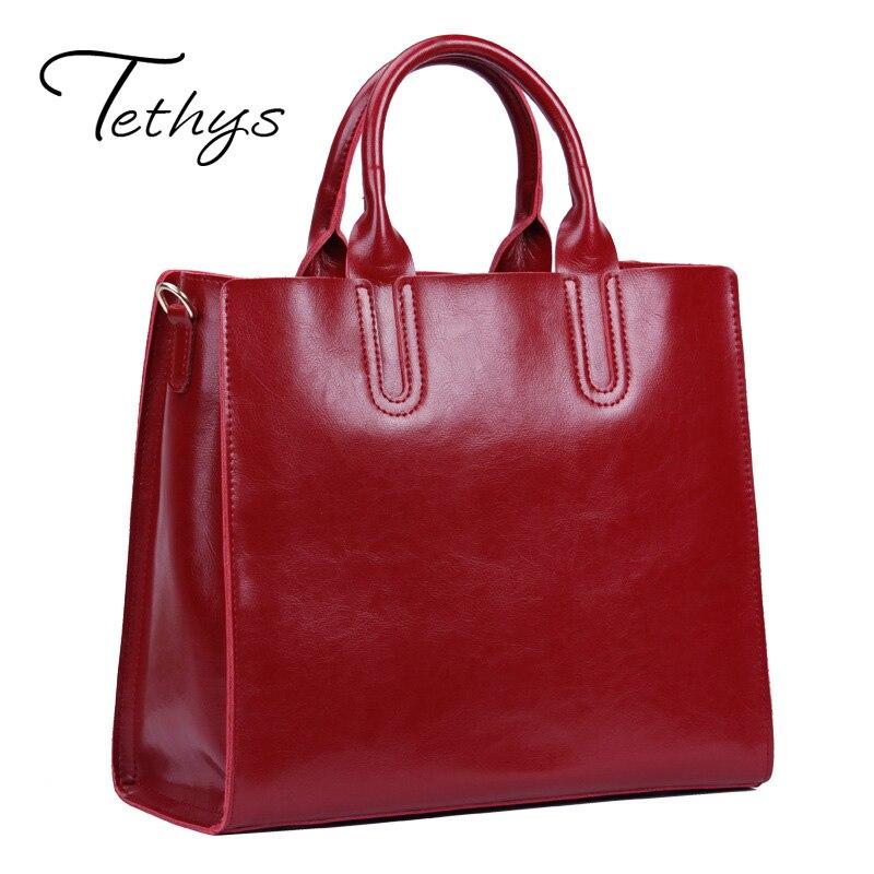 2017 Fashion Genuine Leather Large Capacity Handbag Women Messenger Bag Crossbody Bag for Women Shoulder Bag