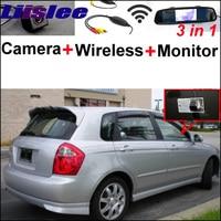 3 in1 Special Camera + Wireless Receiver + Mirror Monitor Easy DIY Parking System For KIA Sephia Sephia5 LD Hatchback 2003~2009