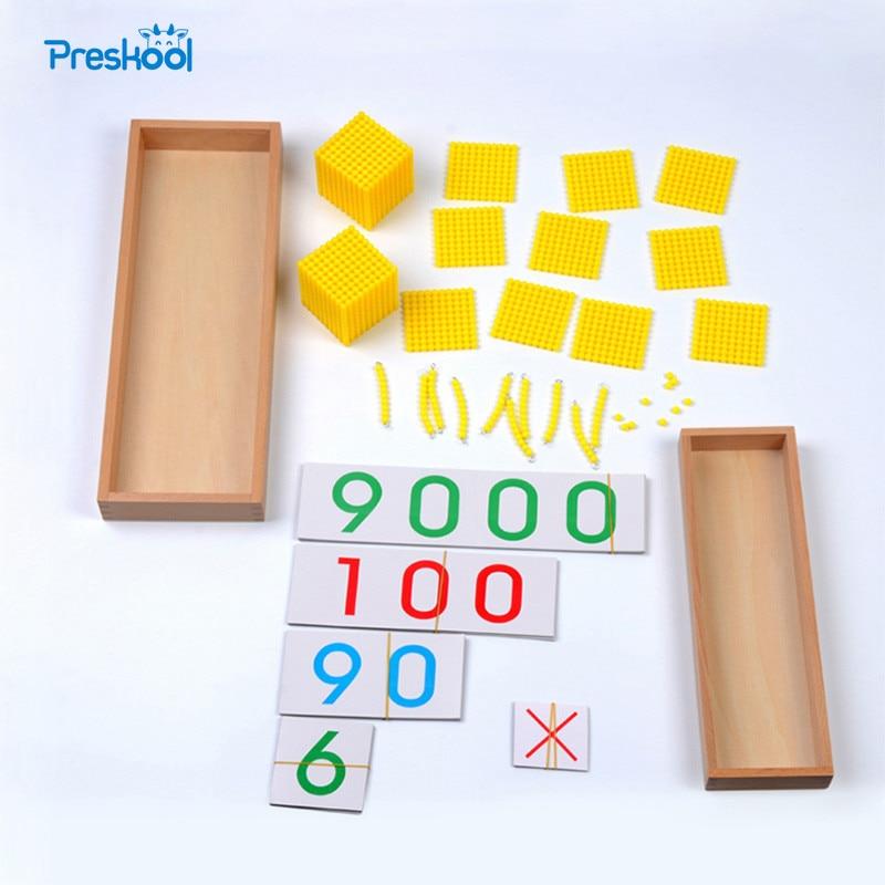 Baby Spielzeug Bank Spiel Montessori Mathematik Frühen Kindheit Bildung Vorschule Ausbildung Kinder Spielzeug Brinquedos Juguetes
