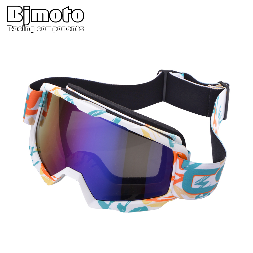 BJMOTO Motocross Glasses Off-Road Dirt Bike ATV DH MX Motorcycle Goggle Racing Eyewear Skiing Ourdoor Goggles