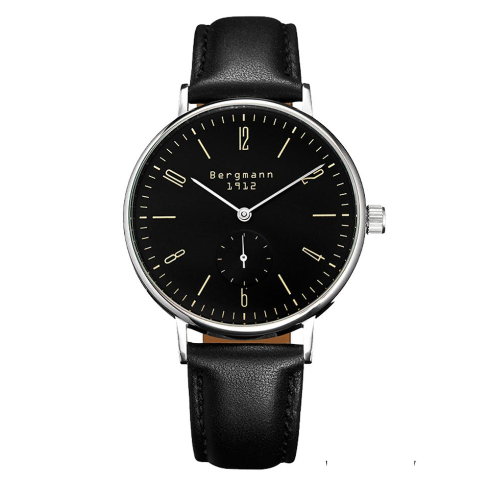 popular german watch mens buy cheap german watch mens lots from german brand bergmann bauhaus style classic couple watches for men women black and white slim hands