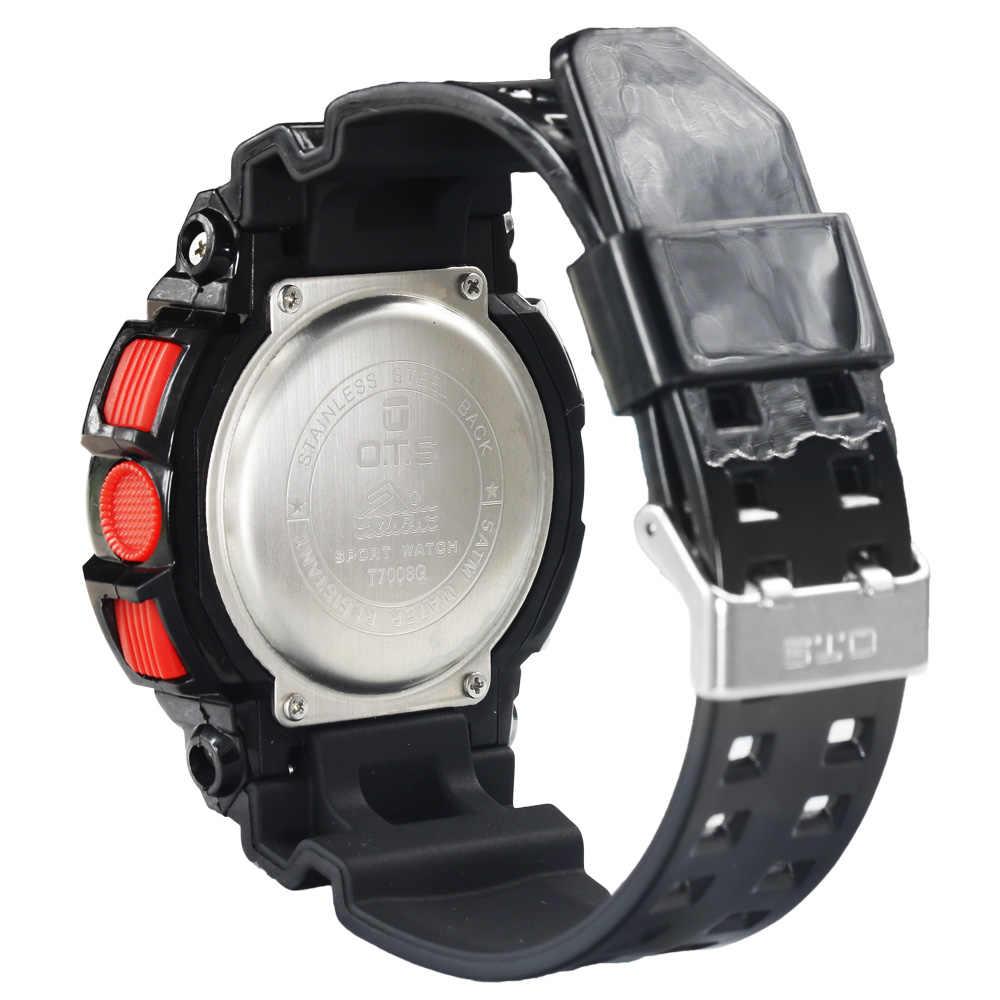 جديد ساعة الموضة للرجال ساعة مقاوم للماء في الهواء الطلق رجل الرياضة مشرق أسود معصم رقمية ساعة مع العد التنازلي والإضاءة الخلفية LED