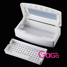 Pro Nail Art & Makeup Tools Sterilizer Box White Double Layer Sterilizing Tray Manicure Beauty Salon Equipment