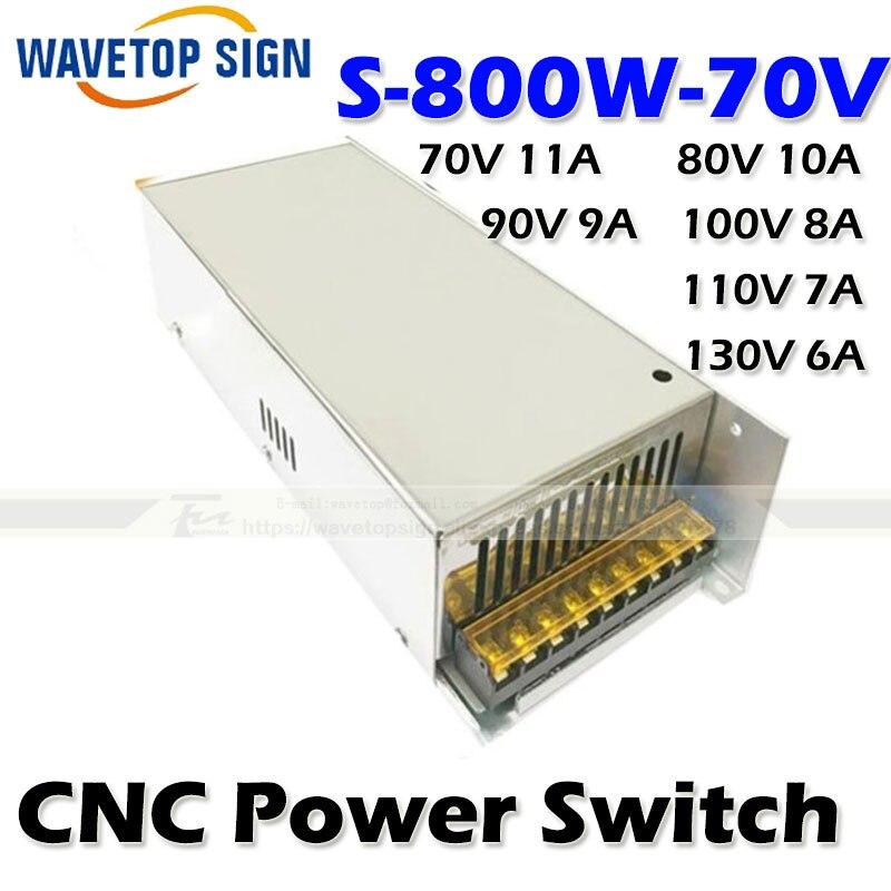 CNC router machine power box S-800W-70V input ac 220v output  dc 0-70V 80V 100v 110v 130v stp80nf70 80nf70 st 80a 70v to 220