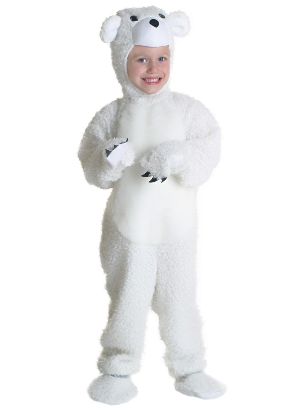 qi county halloween costume bear animal cosplay costume for children white 2t 4t xl - Halloween Costumes 4t