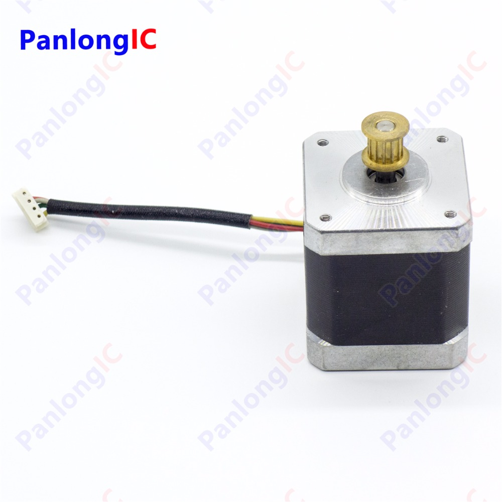 2-Phase 4-lead 42mm 24V Stepper Motor Nema 17 0.5N.m High Torque With 9mm 12Teeth Timing Belt Pulley
