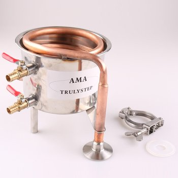 Spare Parts For 2 Pots Moonshine still / Distiller Brewing Kit : Stainless Steel / Copper Coil Cooling Pot