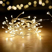Outdoor Waterproof Christmas LED String Lights 10M 100leds Firework Battery Operated Decorative Fairy Lights for Patio Wedding free shipping led little star string lights battery operated 4m 80leds 10m 100leds 220v christmas wedding decoration fairy light